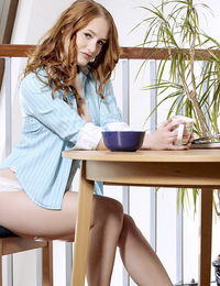 Denisa loves to start her day with a good masturbation session, she plays with herself and won't stop until she comes. Her long, deep moans sound